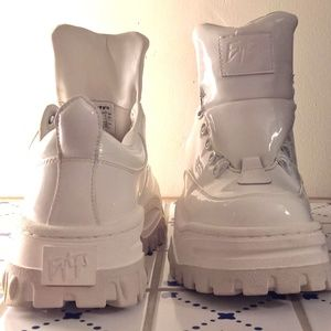 EUC Patent Leather 90's Style Sneakers